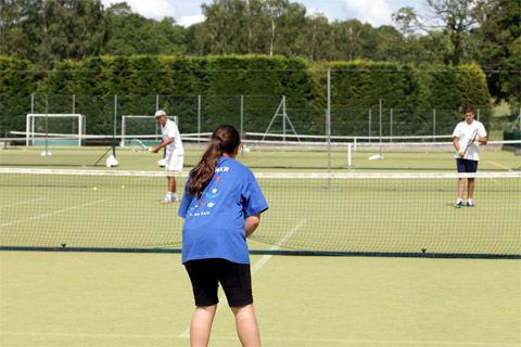Ardingly College tennis court
