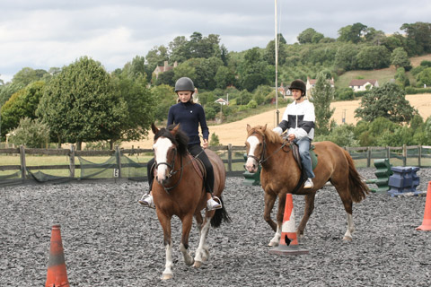 Horse riding course at Cheltenham Ladies' College