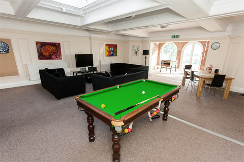 Frensham Heights School accommodation common room