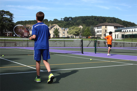 Tennis course at Wycliffe College