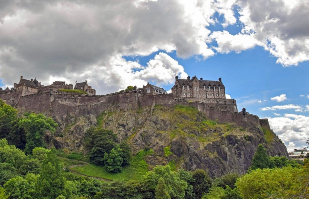 Edinburgh Castle photographed from the bottom of the hill