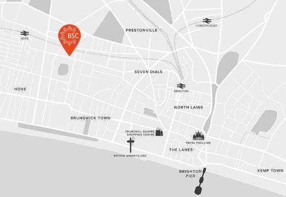 BSC Brighton Map