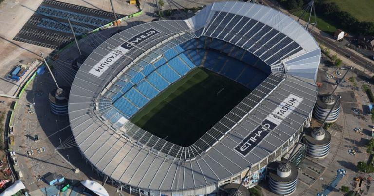 Aerial view of Etihad Stadium
