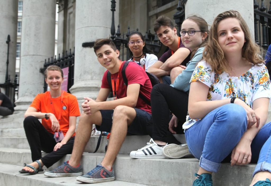 Group of students at King's College