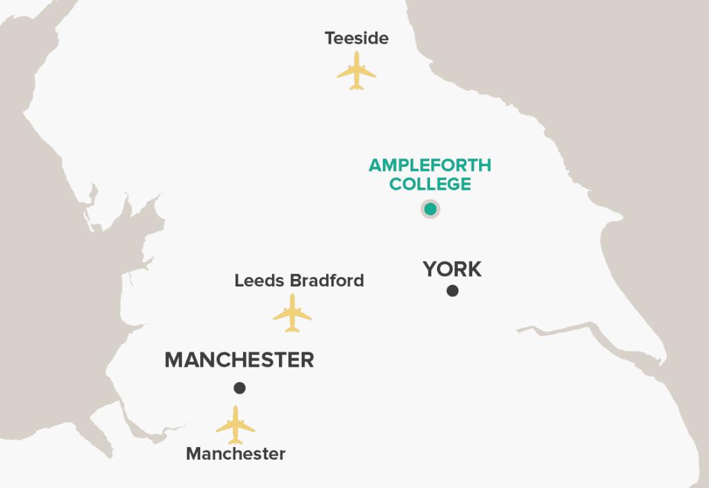 Ampleforth College Map