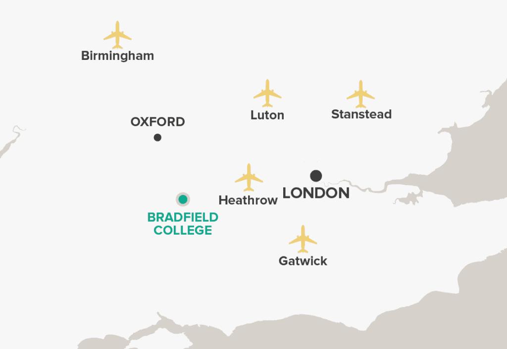 Bradfield College Map