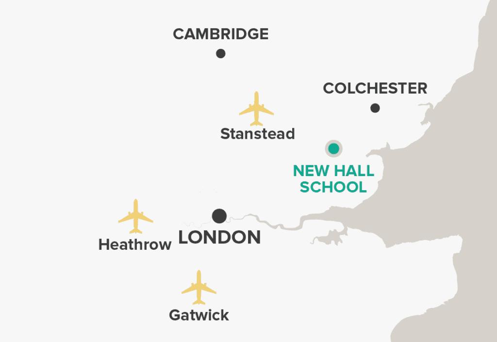 New Hall School Map