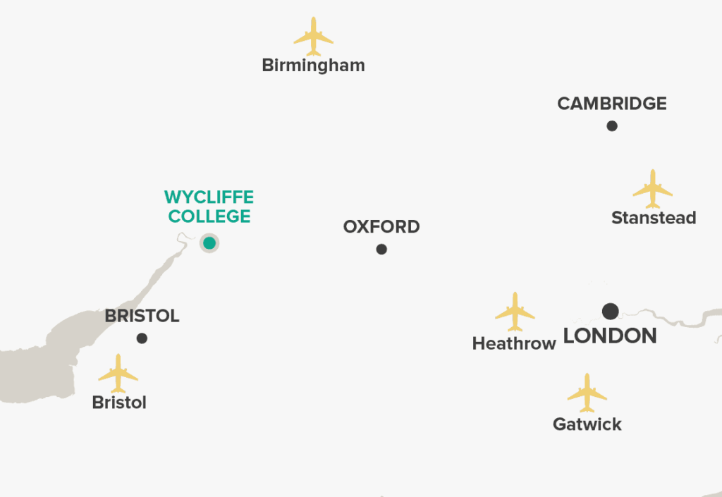 Wycliffe College Map