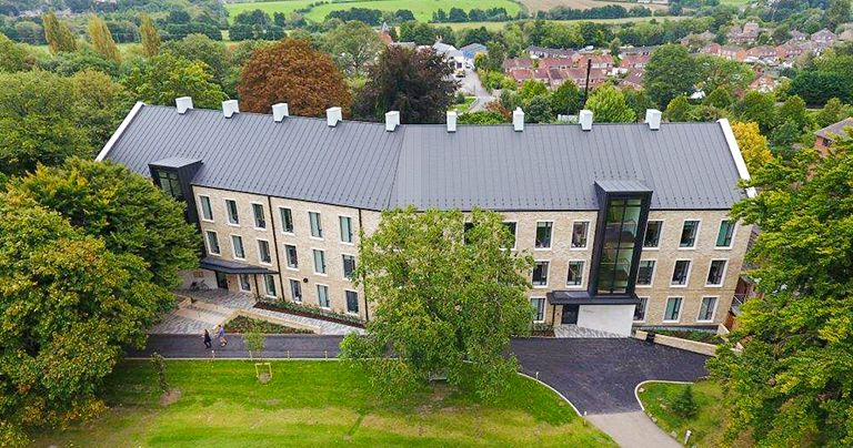 Wycliffe College extrior arial view