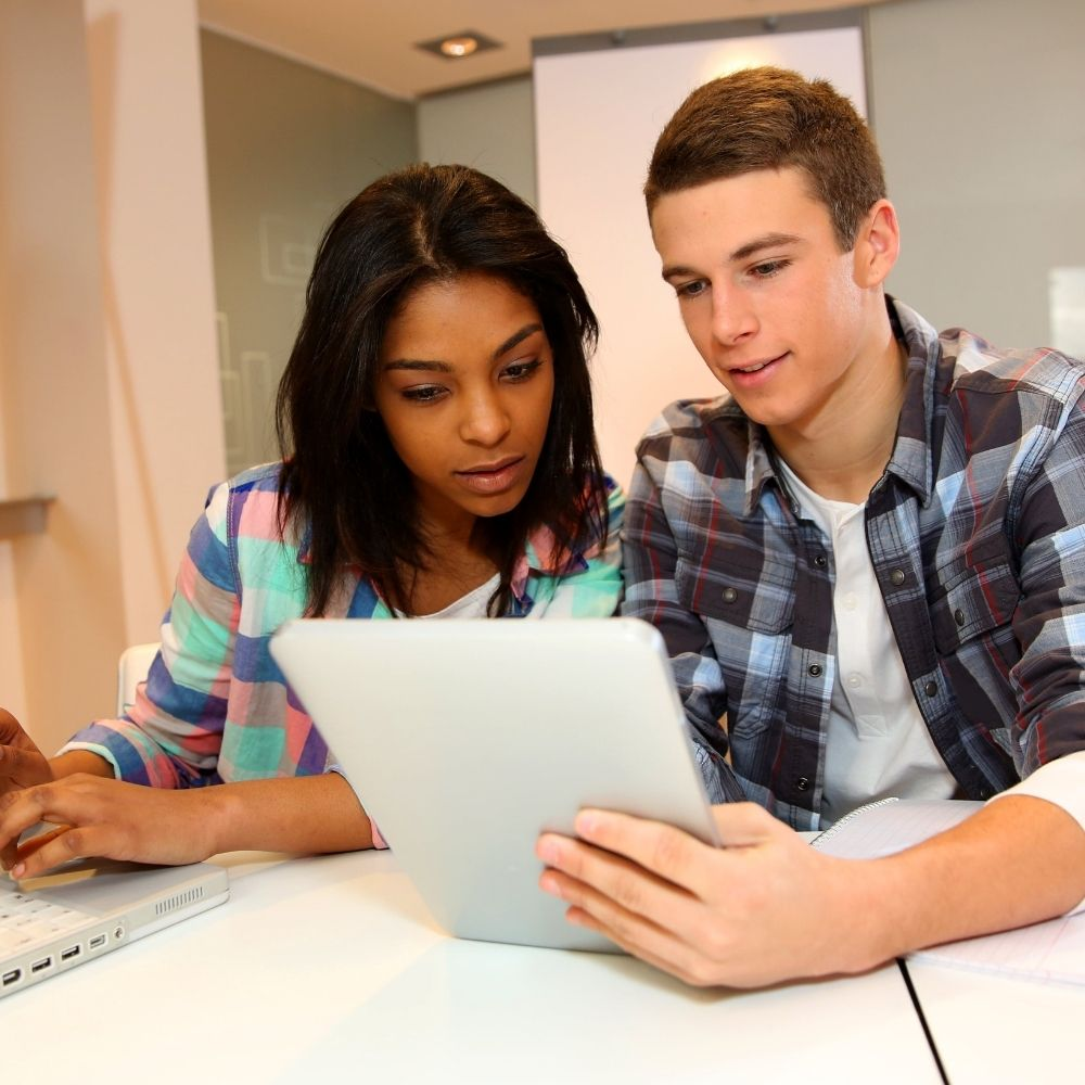 Two students on Young Learner course