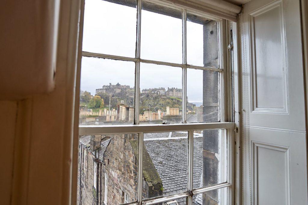 View of Edinburgh Castle from a classroom at BSC Edinburgh