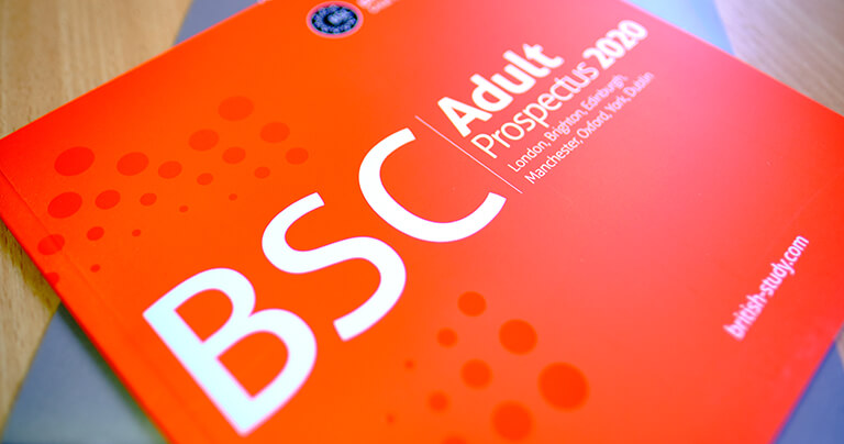 A picture of BSC's adult prospectus