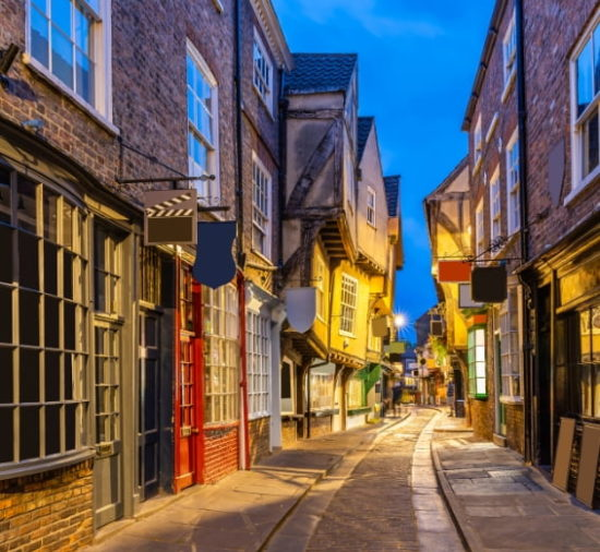 View of the Shambles in York city centre