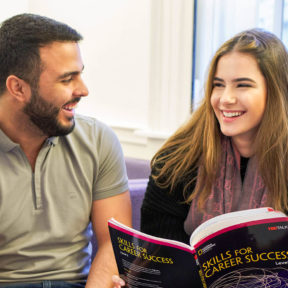 Two students with Skills for Career Success on General English course