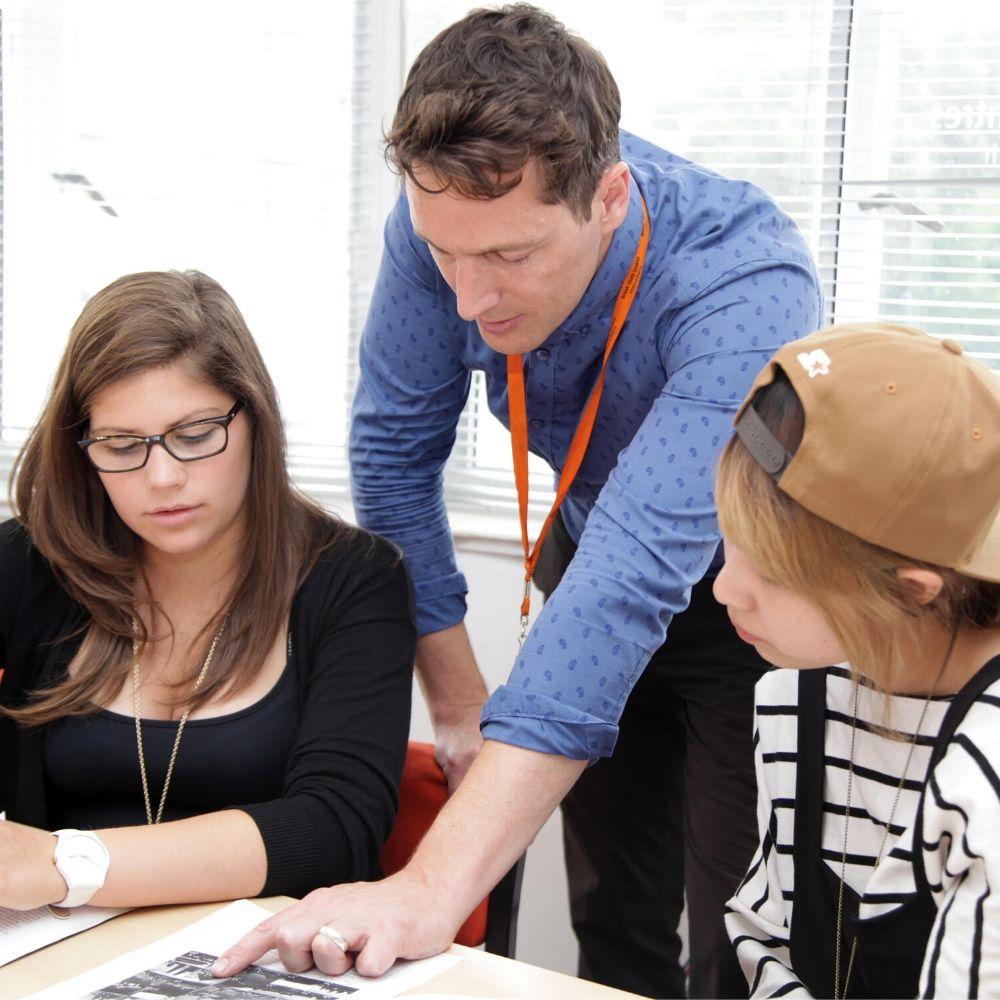 Teacher teaching students at BSC Manchester
