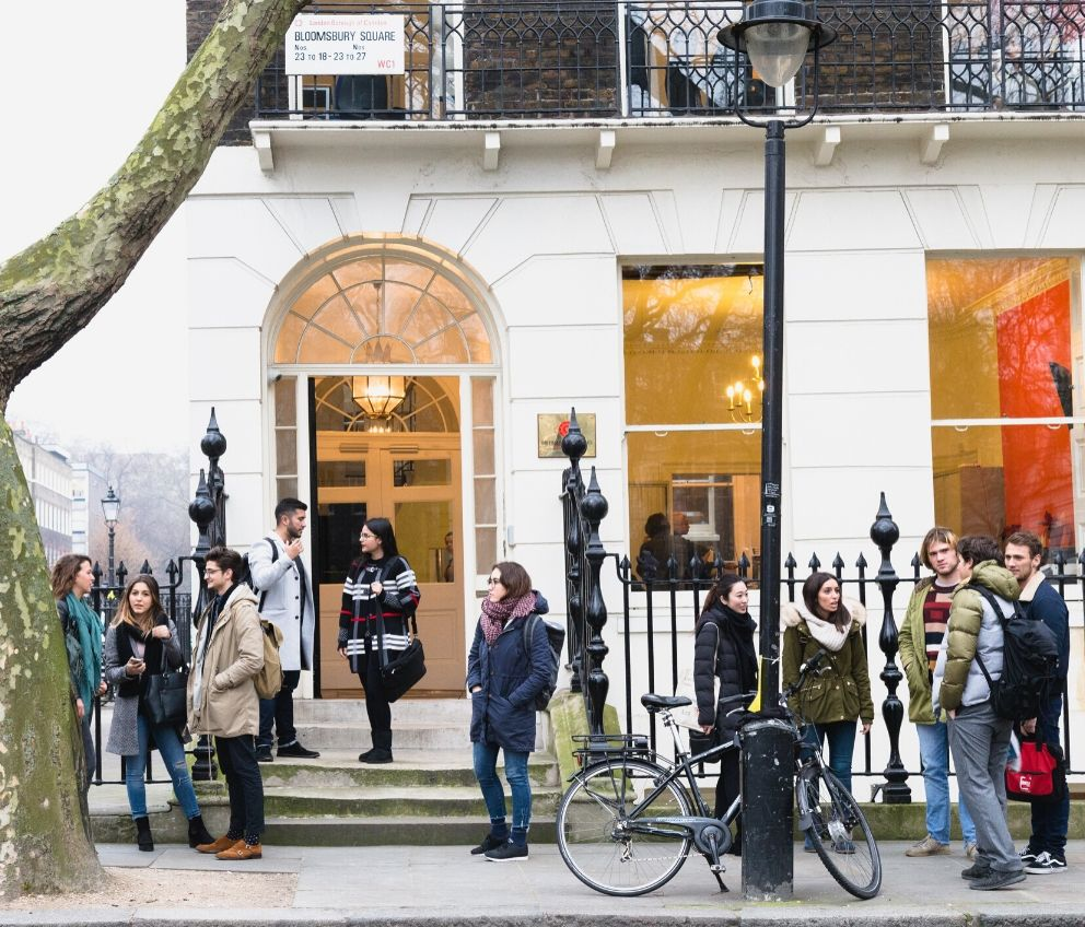 Group of students standing outside BSC London