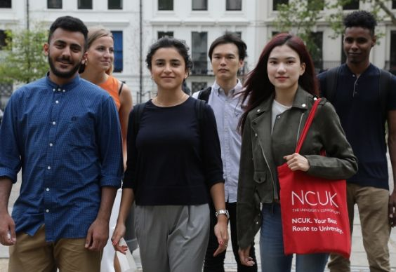 Group of NCUK students