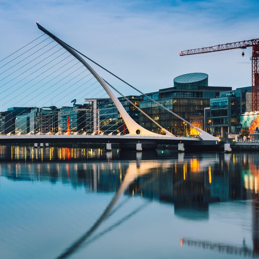 Dublin Quays by night