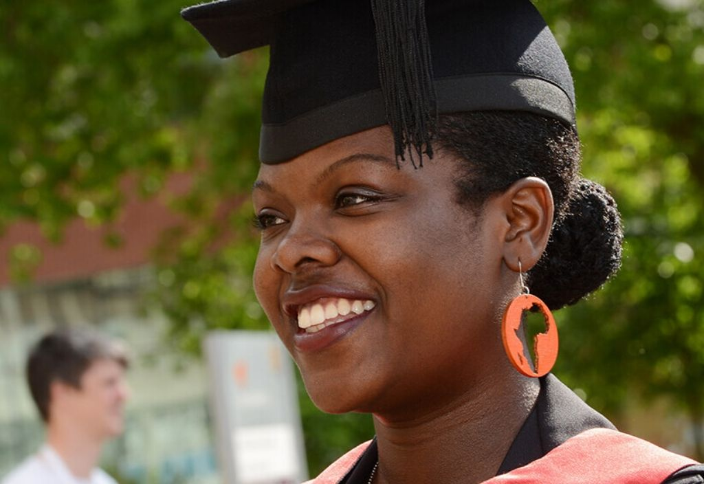 Female student graduation university