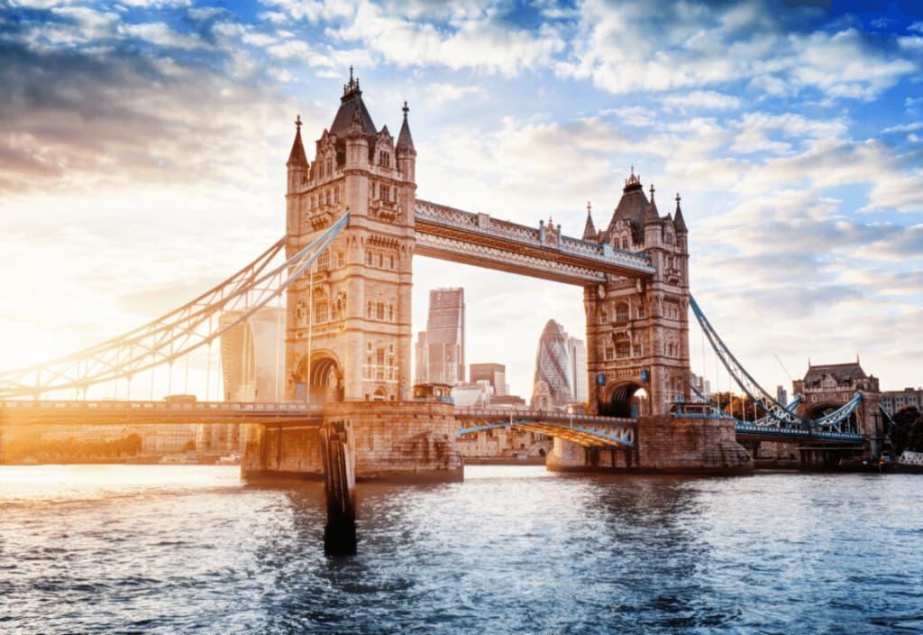 View of tower bridge in London