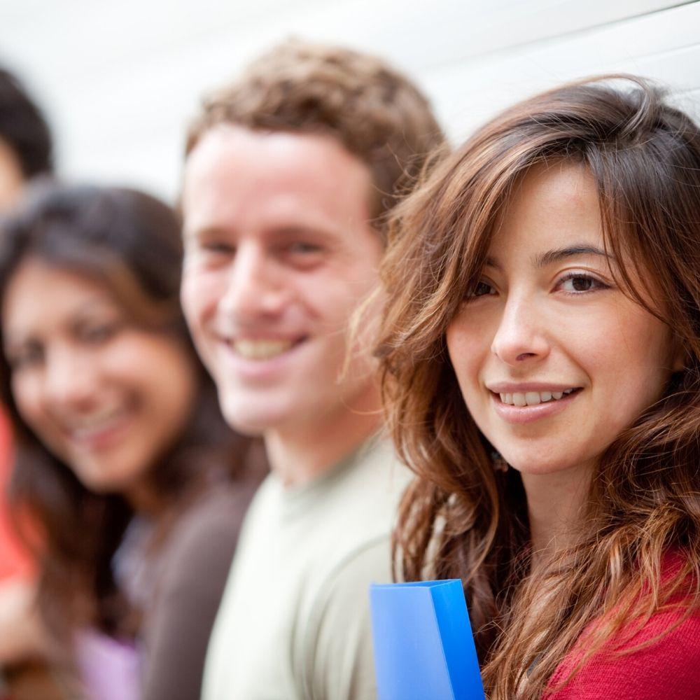 Group of students on English language training