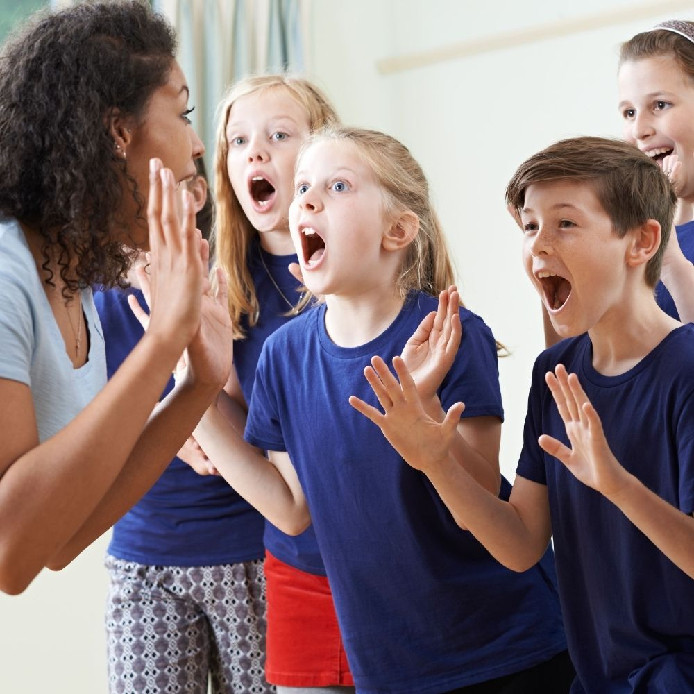 Group of Young Learners on Performing Arts course
