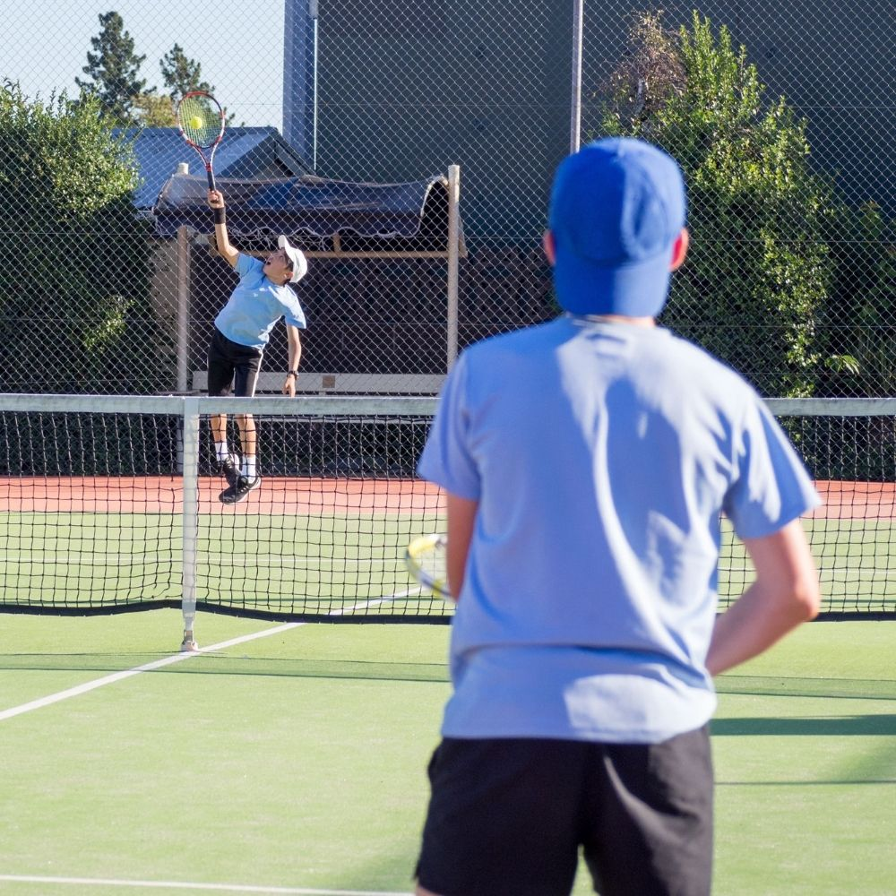 Children playing tennis at Ressins Residence spring camp