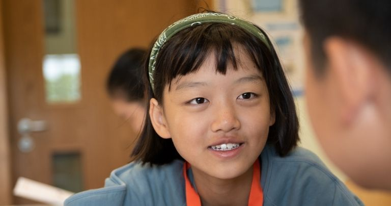 Girl on Young Learner General English course