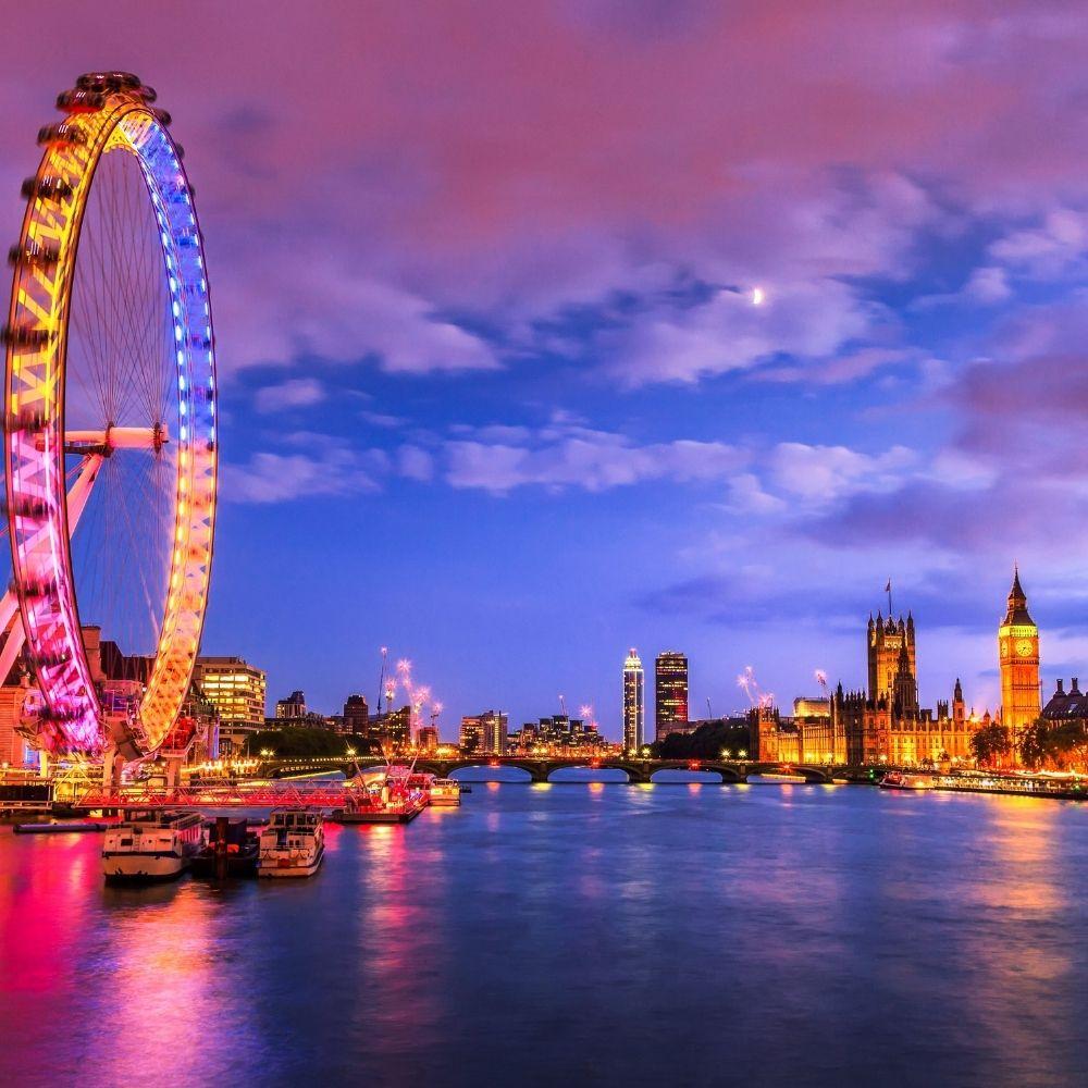 London skyline near BSC London