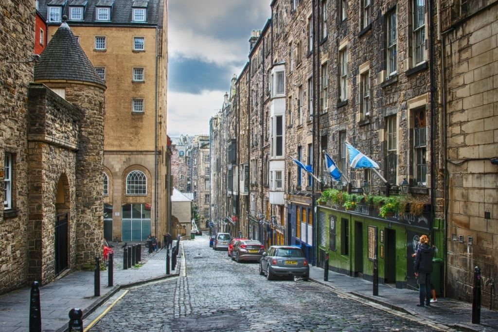 View of Edinburgh street