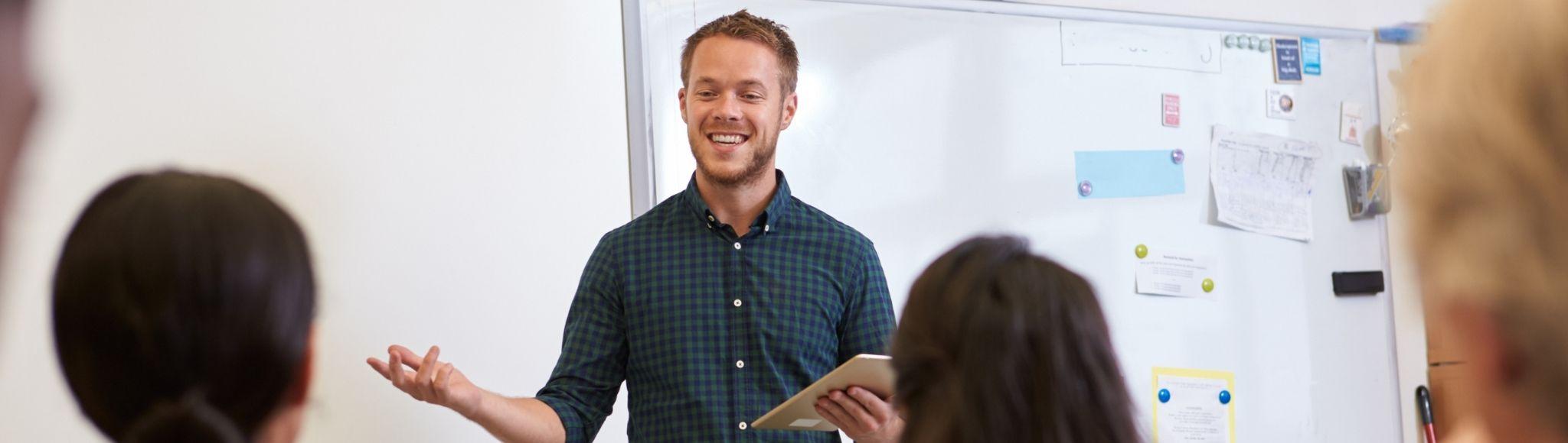 Male teacher TEFL