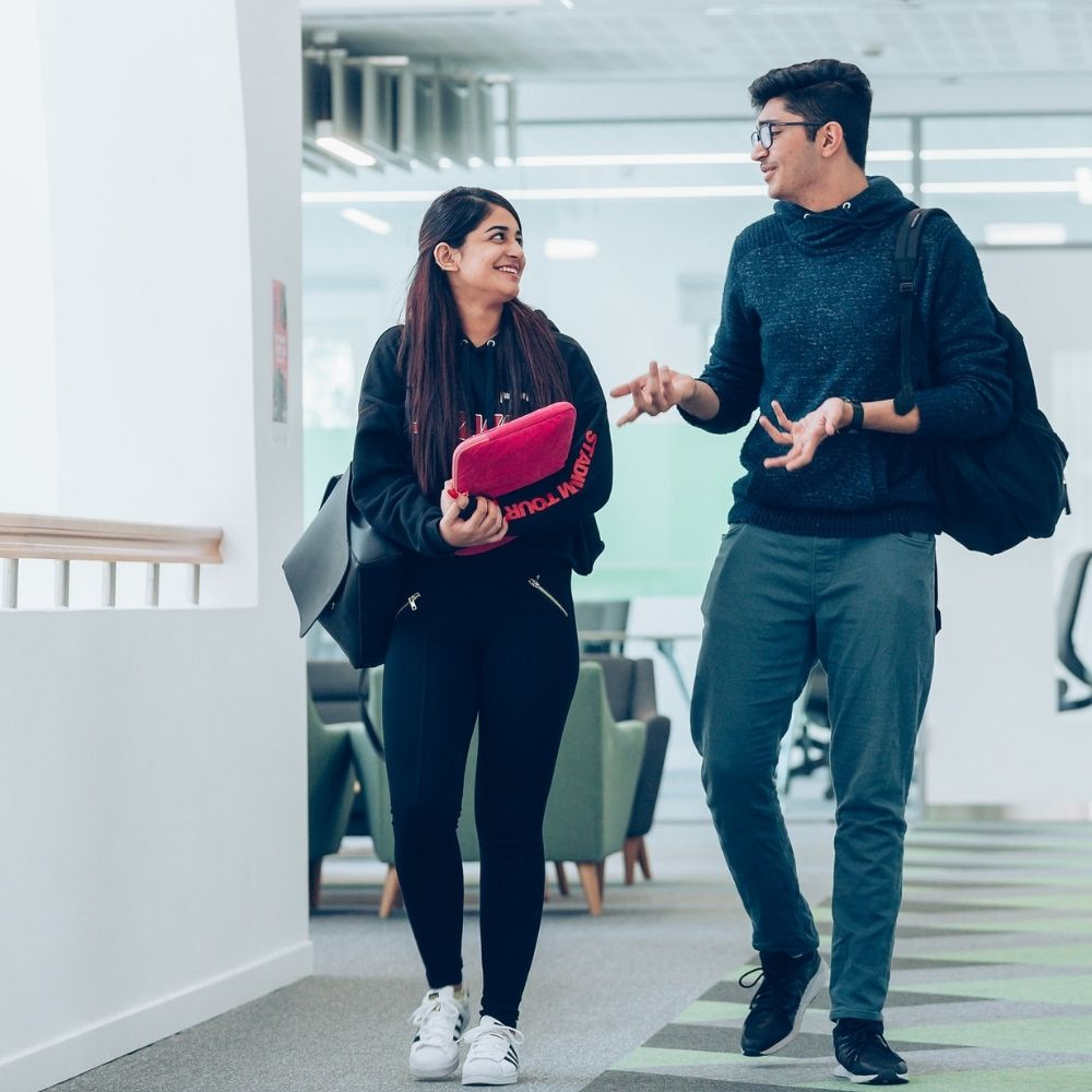 Students at the university of Birmingham Dubai