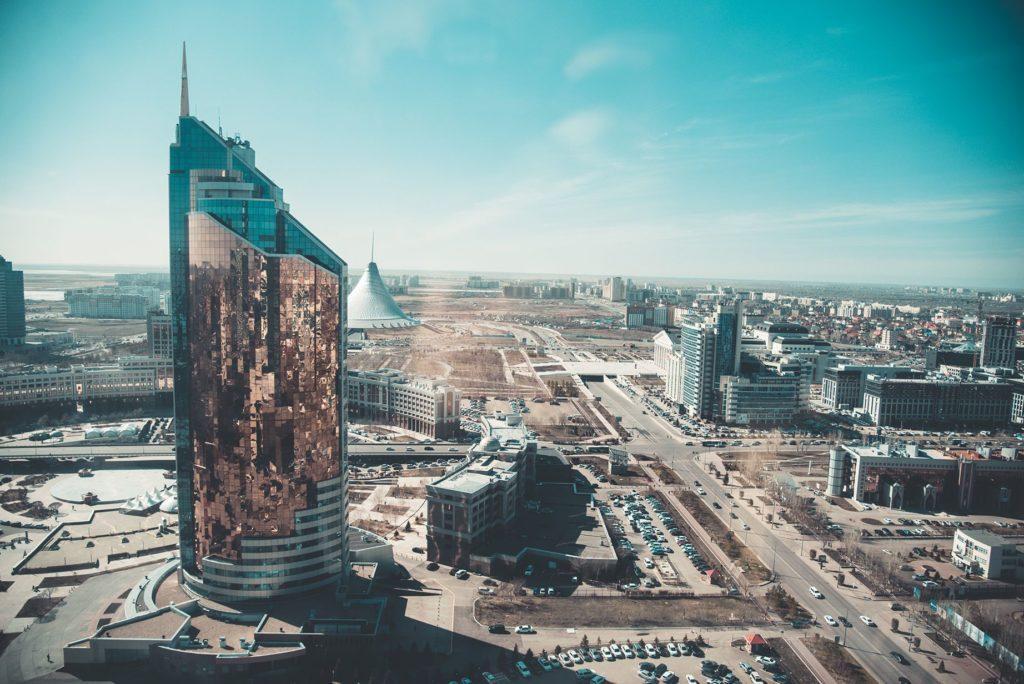 Vista de Kazajistán