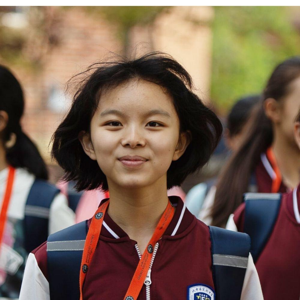 étudiant asiatique à un camp d'été BSC