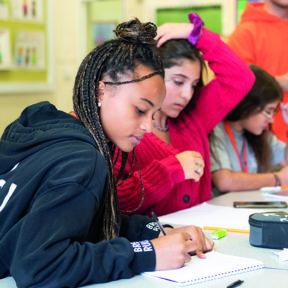 Two girls studying intensive English at UK Summer School