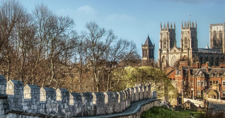 View of York Minster from the town walls