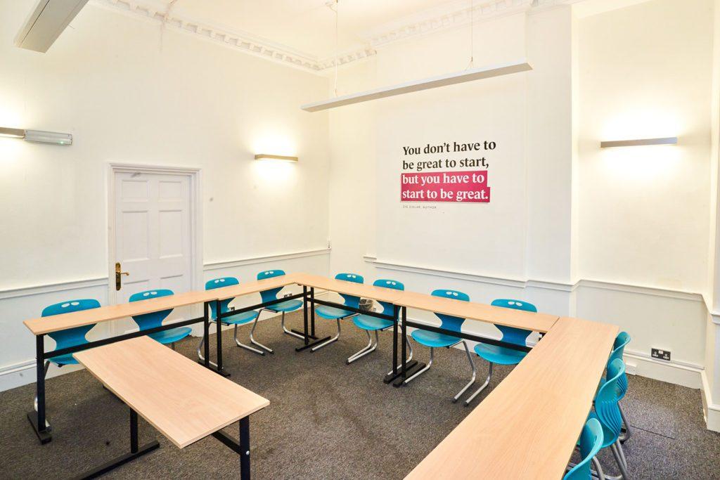 Sala de aula na BSC Londres