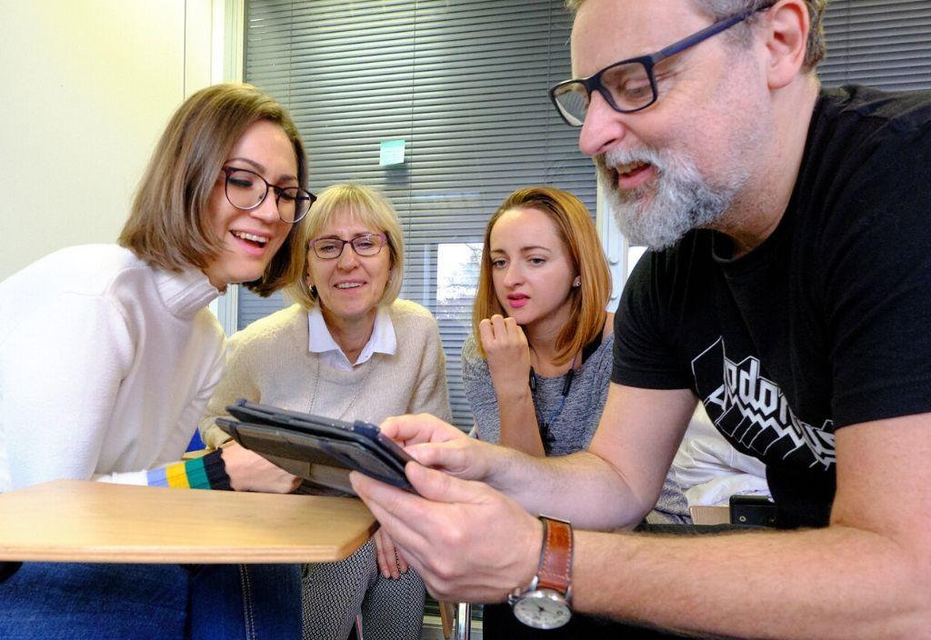 Treinamento de professores com tecnologia