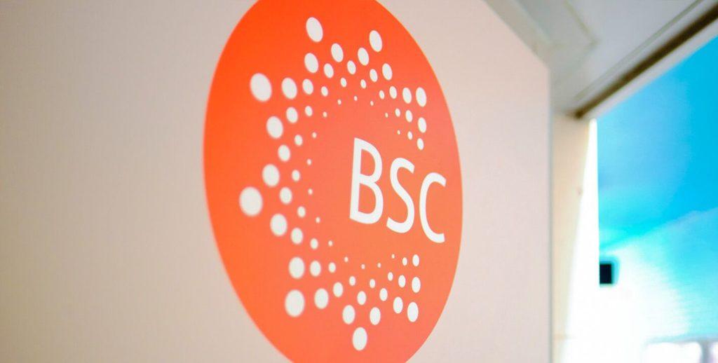 Logotipo da BSC na parede de uma das nossas escolas