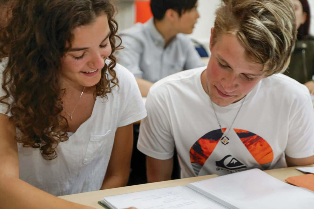 Dois estudantes na BSC Londres