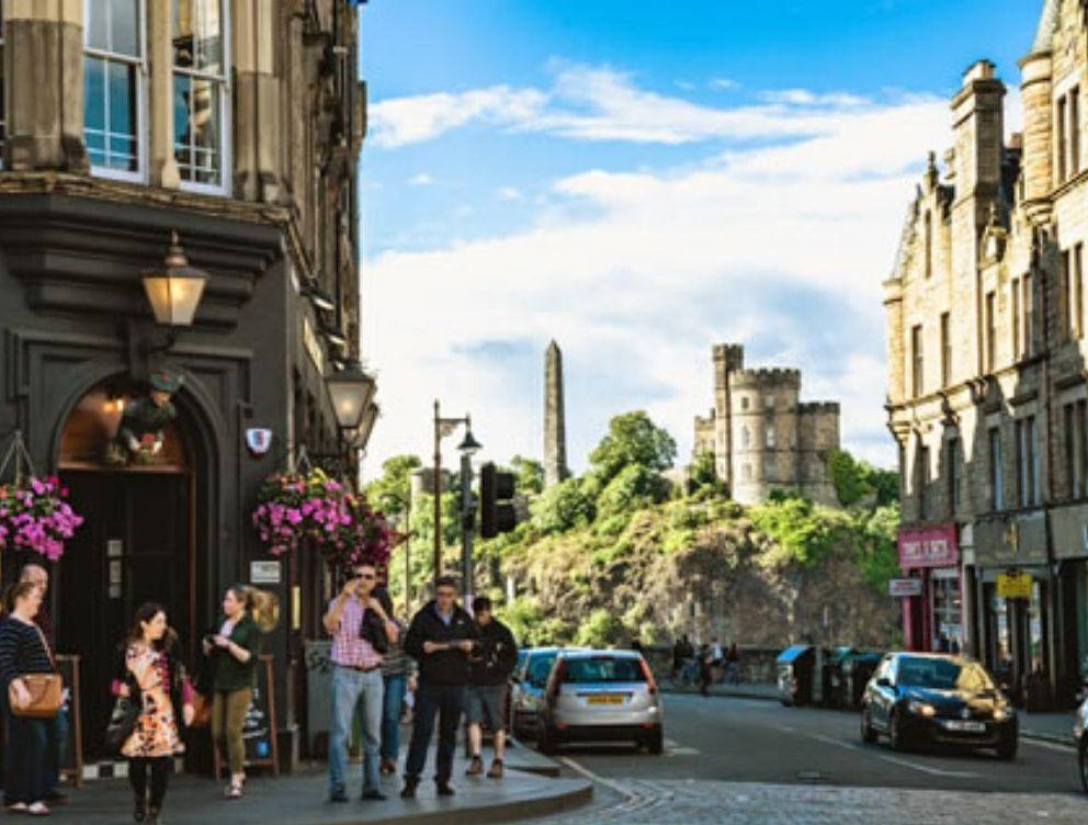 Вид на Калтон-хилл в Эдинбурге
