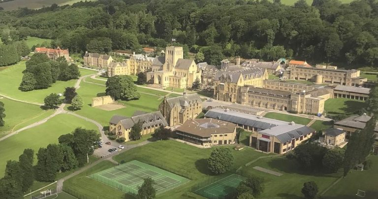 Aerial photograph of Ampleforth College summer camp location