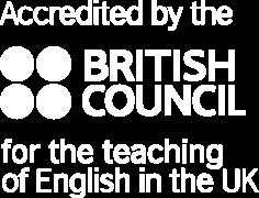 Acreditada pelo British Council para o ensino de inglês no Reino Unido