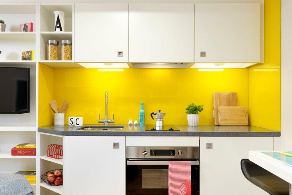 Cozinha no estúdio do corvo no York Student Castel