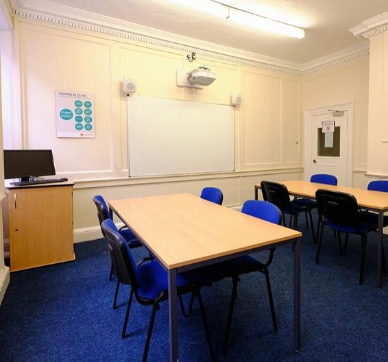 Vista de uma sala de aula na BSC York.