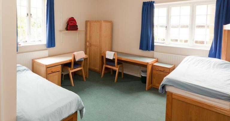 Пример комнаты для проживания в колледже Bradfield