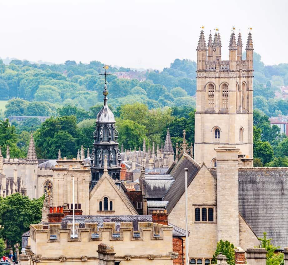 Vue panoramique du centre historique d'Oxford