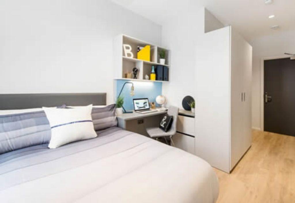 Dormitorio en la residencia de verano de estudiantes Kavanagh Court Dublin