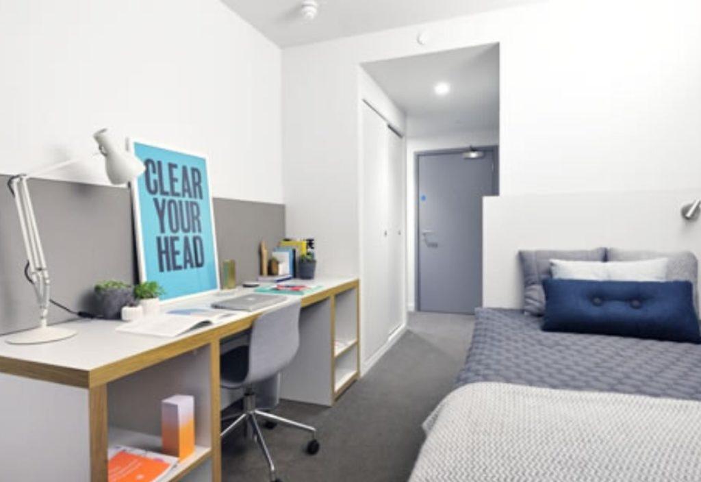 Dormitorio en la residencia de estudiantes de verano de Londres