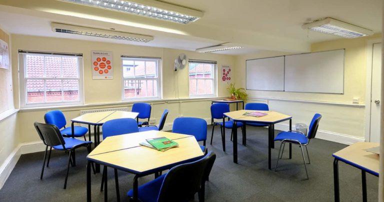 imagen de una aula en la escuela de BSC en York